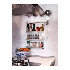 Wall Mount Spice Rack With Jars Droppar Spice Jar Frosted Glass Stainless Steel Organizing