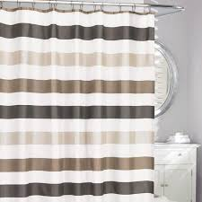 At Home Curtains Moda At Home Polyester U0027cabana U0027 Shower Curtain White Grey Taupe