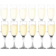 champagne glass amazon com dailywaretm toasting flutes set of 12 elegant
