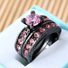 awesome wedding ring 29 pink and black wedding rings ring designs design trends