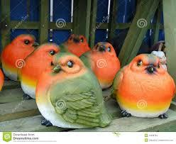 robin breast ceramic garden ornaments stock image image