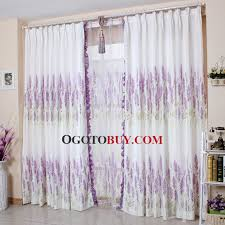 Lavender Window Curtains White Polyester Lavender Floral Pattern Best