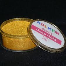 rolkem super deep gold sugarcraft cake decorating dust painting