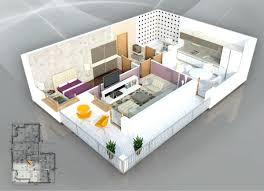 appartement avec une chambre 50 plans en 3d dappartement avec 1 chambres plan 3d appartement 1