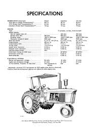 john deere 4020 row crop standard and hi crop tractor manual