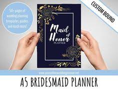 of honor organizer custom ultimate of honor planner a5 custom wedding