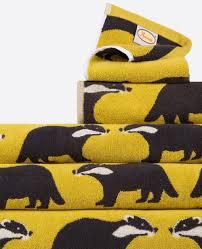 Yellow Bath Mat Buy Anorak Kissing Badgers Bath Mat Super Soft 100 Cotton