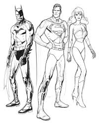 batman superman wonderwoman coloring action coloring pages