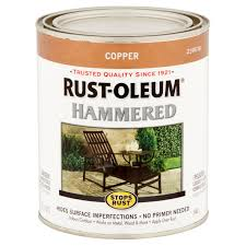 rust oleum stops rust copper hammered paint 32 fl oz walmart com