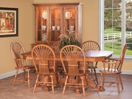 cottage kitchen furniture amish country pedestal dining set sheaf chairs claw foot table