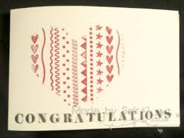 heart wedding or engagement card made by sair