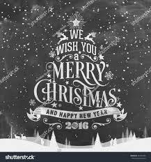 we wish you merry happy stock vector 343453490