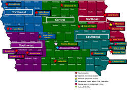 Map Of Iowa State Dci Office Contact Information