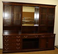 baker furniture vintage credenza office home hutch storage cabinet