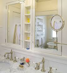 recessed bathroom mirrors custom and built in medicine cabinet traditional bathroom with