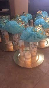 communion decorations for tables boy baptism centerpieces b day party ideas pinterest boy