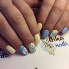 blue and yellow nails the best images bestartnails com