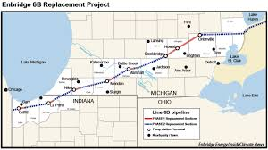 A Map Of Michigan by Little Oversight For Enbridge Pipeline Route That Skirts Lake