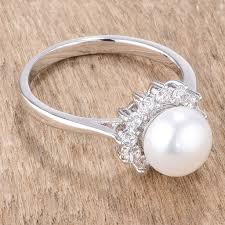v shape diamond with fresh water pearl ring christine k jewelry meggie freshwater pearl cz halo ring 0 5ct cubic zirconia