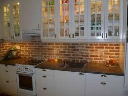 Backsplashes For Kitchen Painting Faux Brick Backsplash In Kitchen Designs Neriumgb
