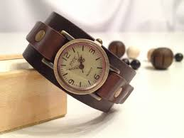 bracelet leather watches images Retro leather cuff watch antique bronze leather bracelet watch jpg