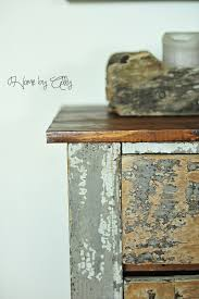 How To Make Furniture Look Rustic by Shabby Chic Hutch Reveal U0026 How To Achieve A Rustic Wood Look