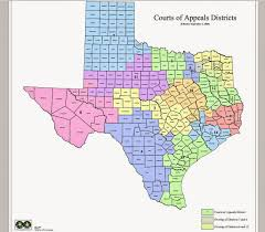 Counties In Texas Map Tex App Intermediate Courts Of Appeals And Corresponding