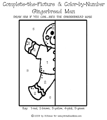 complete the picture gingerbread man printables for kids u2013 free