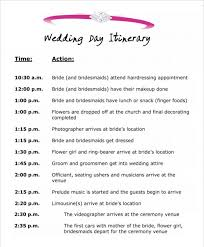 wedding reception itinerary wedding reception schedule template best professional templates
