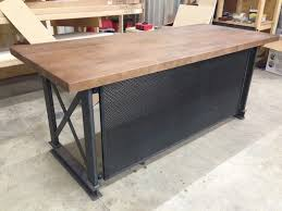 industrial desk l industrial office desks rustic home office furniture with regard to