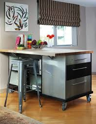 movable kitchen islands with stools 10 practical versatile and multifunctional rolling kitchen islands