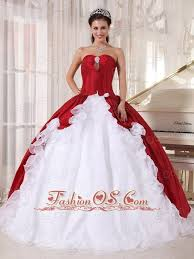 unique quinceanera dresses wine and white quinceanera dress sweetheart organza and