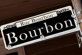 bourbon sign rue bourbon sign new orleans stock photo image 35633540