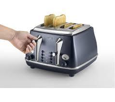 4 Slice Bread Toaster Buy Delonghi Elements Ctoe4003 Bl 4 Slice Toaster Ocean Blue