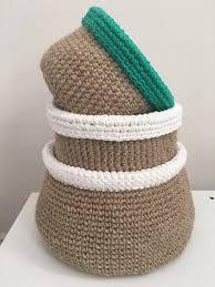 jute baskets free pattern home decor pinterest free pattern