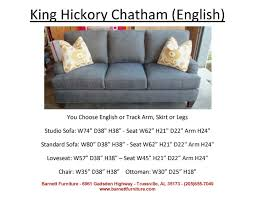 king hickory leather sofa king hickory chatham sofa track arm modern leg you choose 4