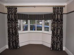 Double Curtain Rod For Bay Window Awesome Curtains Poles For Bay Windows And Valance Curtains For