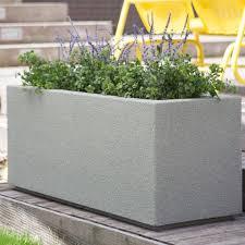 poly stone milan tall trough 4 ft outdoor planter walmart com