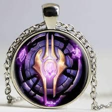 purple necklace chain images Wow world of warcraft necklace draenei crest alliance round jpg