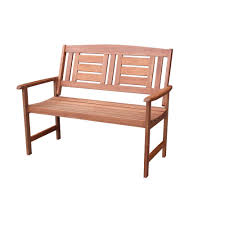 vifah baltic 5 ft eucalyptus wood garden bench v023 1 the home