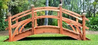 backyard bridges redwood garden bridges voted best in design and craftsmanship