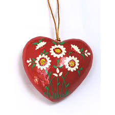 heart shaped paper mache car wall hanging buy online india