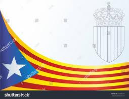 flag catalonia autonomous communities spain unofficial stock