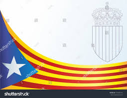 Flag Of Catalonia Flag Catalonia Autonomous Communities Spain Unofficial Stock