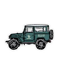 safari jeep drawing cruise u0026 safari sticker bexar goods co