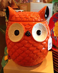 owl cookie jar orange cracker barrel found him at breakfast a