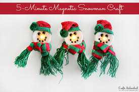 Snowman Crafts 5 Minute Light Up Magnet Tutorial