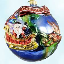 santa u0026 reinders globe trotter 00 378 0 radko christmas ornament