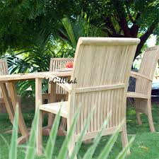 Teak Wood Patio Furniture Set - outdoor patio table set tropez round table u0026 liberty side chair
