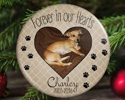 pet memorial christmas ornament forever in our hearts